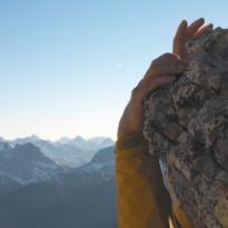 climbing cliff