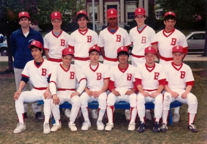 Brookline High School JV baseball team 1984